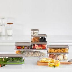냉장고 소분 정리 수납 플라스틱 밀폐 용기 B 세트 (10개입)