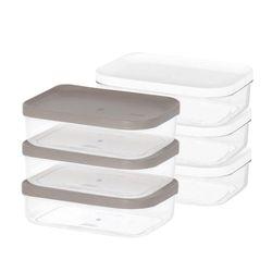 냉장고 소분 정리 수납 플라스틱 밀폐 용기 2호 (3개입)
