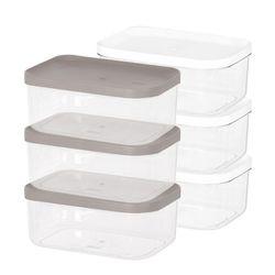 냉장고 소분 정리 수납 플라스틱 밀폐 용기 3호 (3개입)