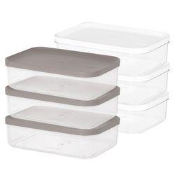 냉장고 소분 정리 수납 플라스틱 밀폐 용기 4호 (3개입)