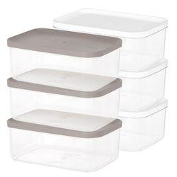 냉장고 소분 정리 수납 플라스틱 밀폐 용기 5호 (3개입)