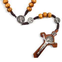 카톨릭 나무 십자가 목걸이