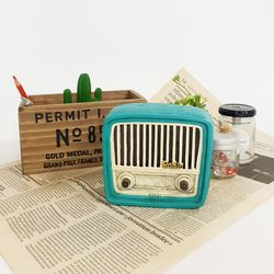 레트로 데코 소품 글램 라디오