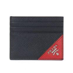 2MC223 사피아노 메탈 카드지갑 블랙 레드