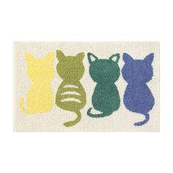 허브플러스 귀요미 고양이 뒷태 발매트