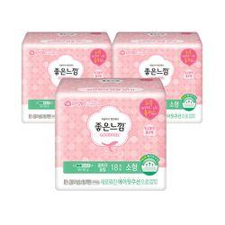 에어핏쿠션 생리대 울트라 슬림 날개 소형 18매X3팩
