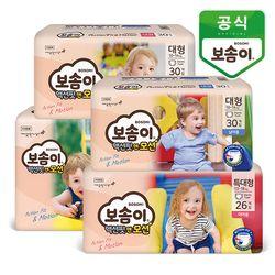 보솜이 액션핏앤모션 팬티 기저귀 4팩
