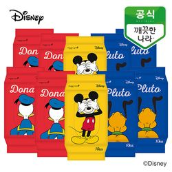 깨끗한나라 디즈니 프렌즈 물티슈 휴대용 10매 10팩