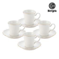 베르겐 골드블랑 커피잔 4조 선물세트