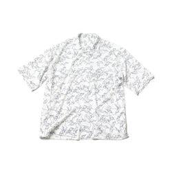 매스노운 지오메트릭 패턴 오버사이즈 반팔셔츠 MUZST002-WT
