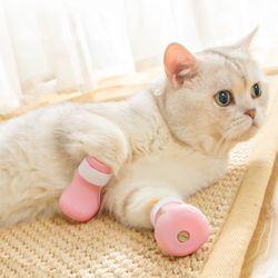 고양이 강아지 목욕 신발 발톱 커버 미용 발톱캡 할큄 방지