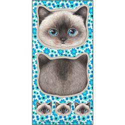 샴 고양이 얼굴 쿠션 DIY커트지 클라우디 (20수 린넨 45X90cm)