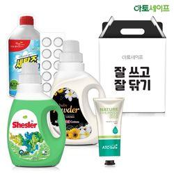 선물세트 (쉬슬러 유칼립+파우더+손소독제+세탁조)