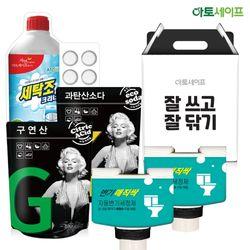 선물세트(변기세정2개+발포과탄+발포세탁조+발포구연)