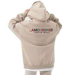 LAMO logo hoodie for ootd (Beige)