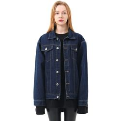 Regular denim jacket (Darkblue)