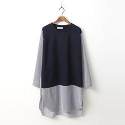 Combo Stripe Long Shirts Tee