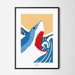 죠스4 M 유니크 인테리어 디자인 포스터 A3(중형)