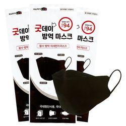 KF94 굿데이 방역마스크(대형)-블랙 50매입