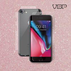 아이폰7/8 2.5D강화유리 액정+핑크스킨 측후면 1매 W