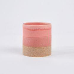 원형라운드화분 H10cm 핑크&그레이