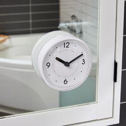 더 심플 화이트 욕실 흡착 시계