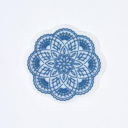 크로셰플라워 실리콘 컵받침 블루