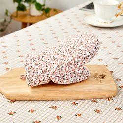 L 여리여리한 잔꽃 주방장갑 핑크