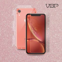 아이폰XR 3D강화유리 액정+핑크스킨 측후면 필름 1매