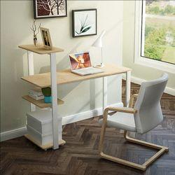 모던 일체형책상 책꽂이 책장책상의자세트