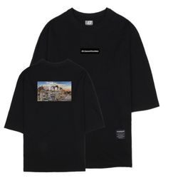 시티뷰 로마 7부 티셔츠 블랙