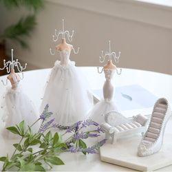 화이트 웨딩 드레스 악세사리거치대 5종 세트 (악세사리 보관함)