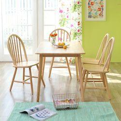 캔버윈저 4인용 원목 식탁세트(의자형) 3colors