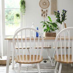 캔버윈저 6인용 원목 식탁세트(의자형) 3colors