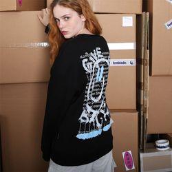 기브 스마일 스웨트셔츠-블랙