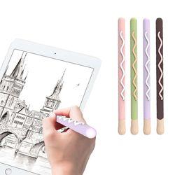 애플펜슬 1세대 마카롱 뚜껑 분실방지 풀커버 실리콘 케이스