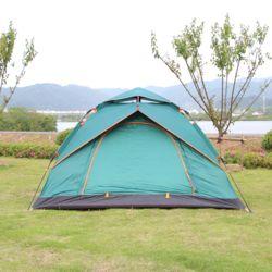 2-3인용 베이스캠프 원터치 텐트(다크그린)