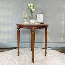 엔틱가구 사이드 원형 티 테이블