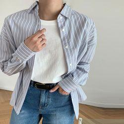 VINEYARD 발렌 스트라이프 코튼 셔츠
