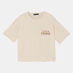 치즈 크롭 반팔 티셔츠 RBRA19861