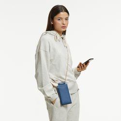 GOLD CHAIN PHONE CASE BAG BLUE