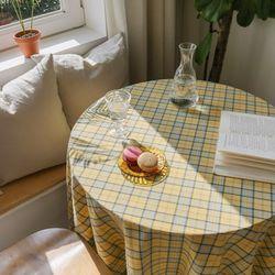 포홈 빈티지 체크 테이블보 (4인용) 2color
