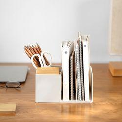 멀티 데스크 책 연필 꽂이 정리함