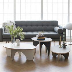 레이어스 에그 소파 테이블(A. 600 x 483 x H405)