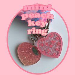 mini peach key ring (키링)