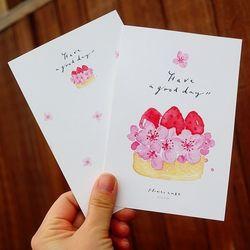 [엽서] 딸기 플라워 케이크