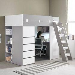 하우스 수납서랍장 2층 벙커침대 풀세트