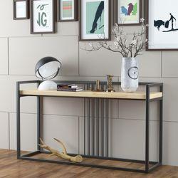 호텔 스타일 현관콘솔 벽 테이블 (좁고 긴 테이블)