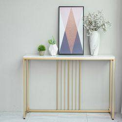 현관콘솔 대리석 골드 벽 테이블 (좁고 긴 테이블)