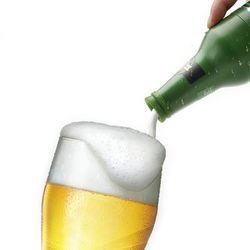 맥주병 모양 맥주 디스펜서 휴대용 거품기